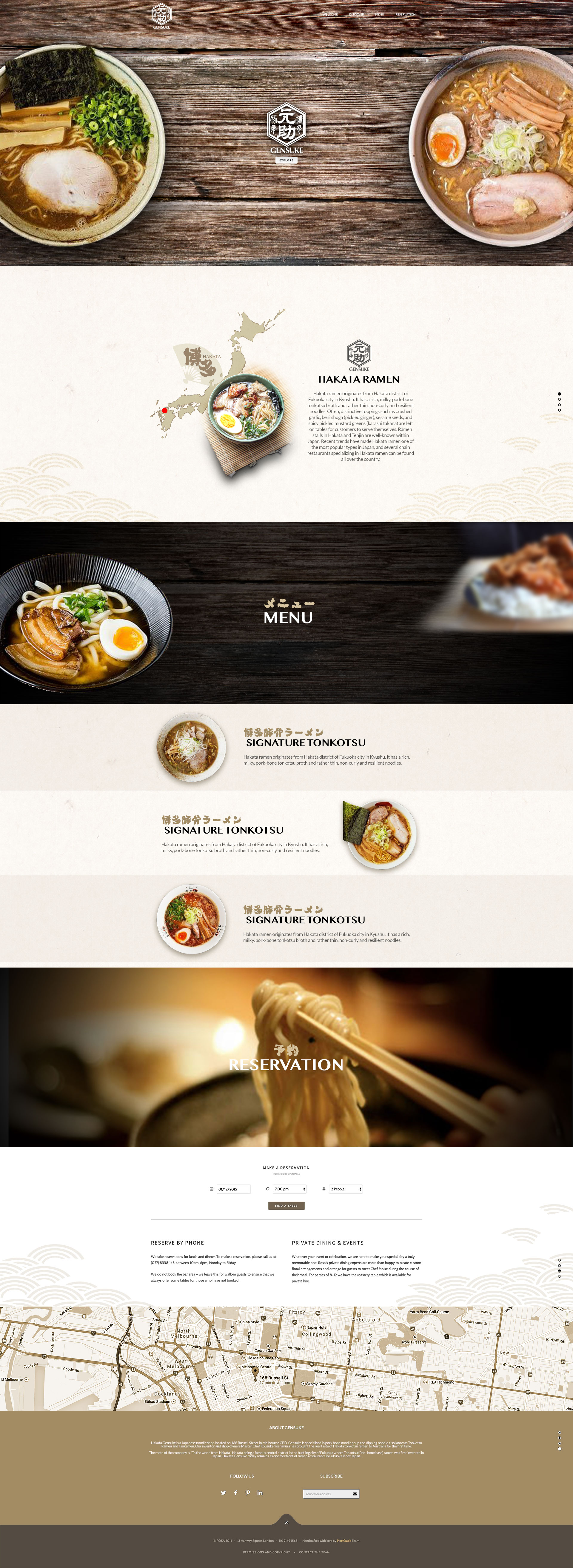 restaurant web design by Z Creative Studio Branding & Graphic Design Melbourne