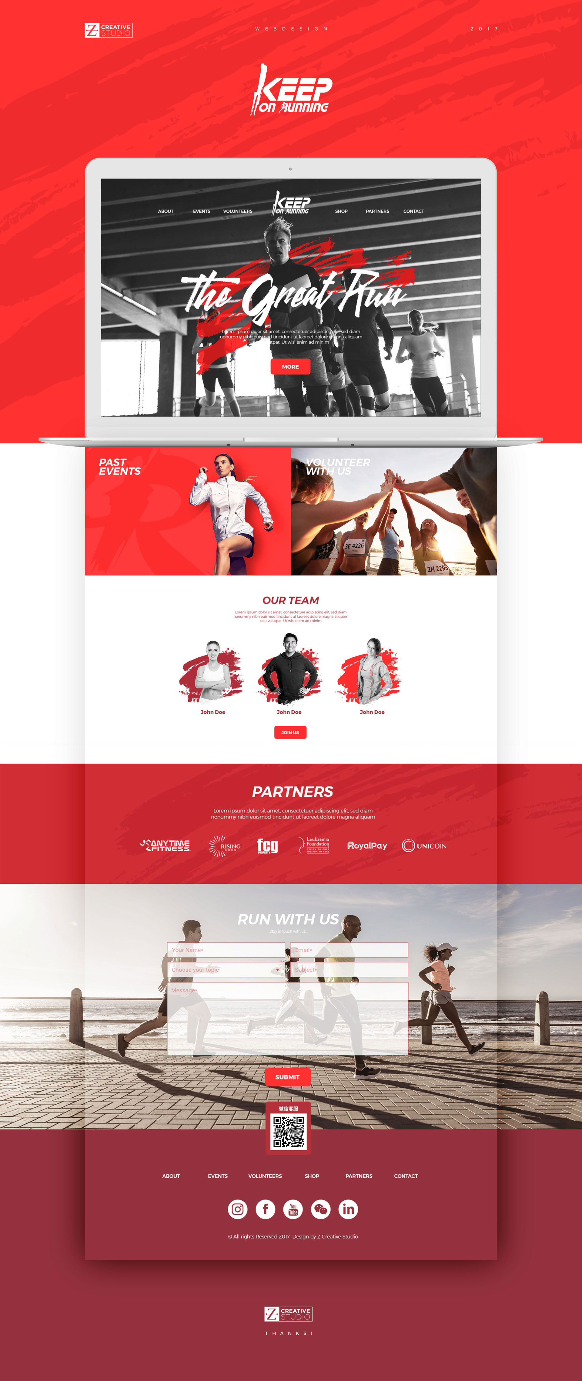Keep on Running Club web design by Z Creative Studio Branding & Graphic Design Melbourne