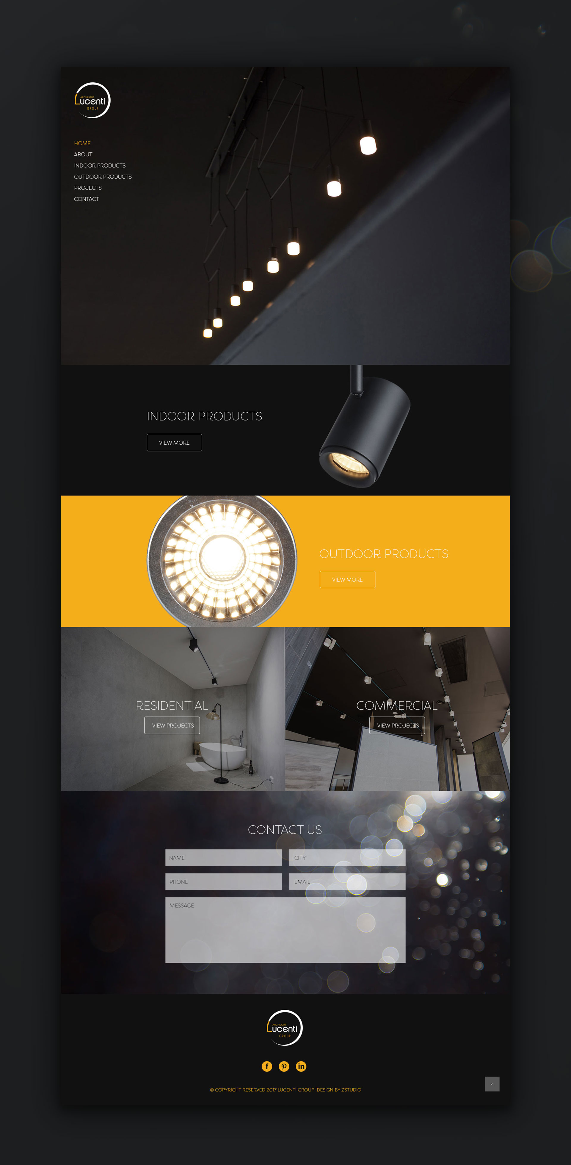 Lucenti Lighting Web-design by Z Creative Studio Branding & Graphic Design Melbourne