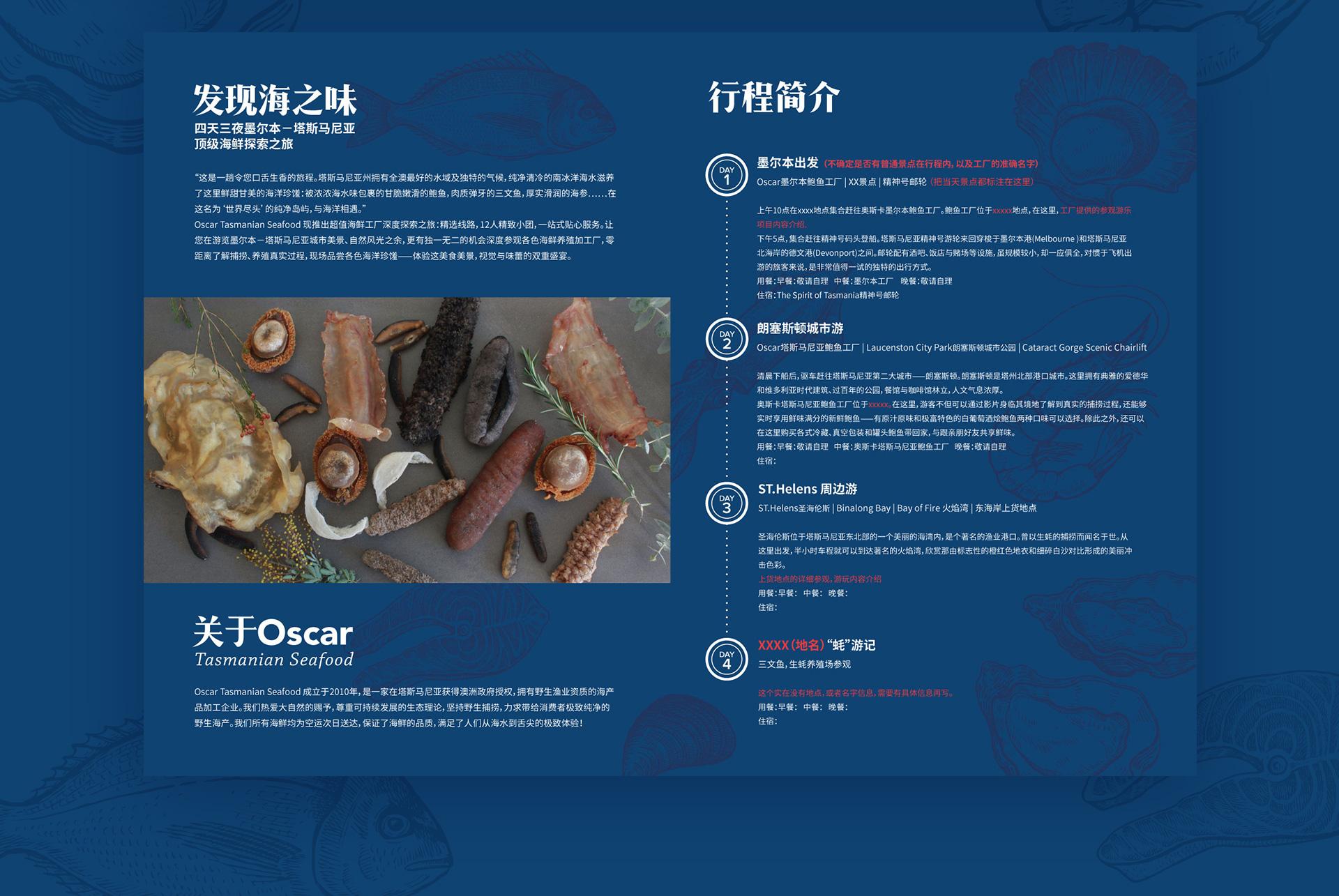 seafood tour brochure design by Z Creative Studio Branding & Graphic Design Melbourne