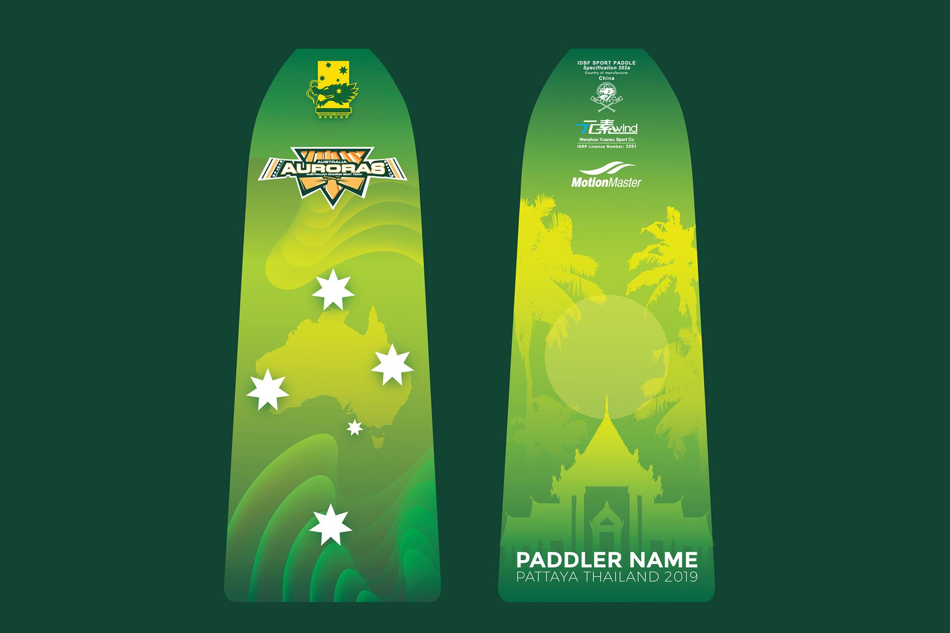 Dragon Boat Paddle Design by Z Creative Studio Branding & Graphic Design Melbourne
