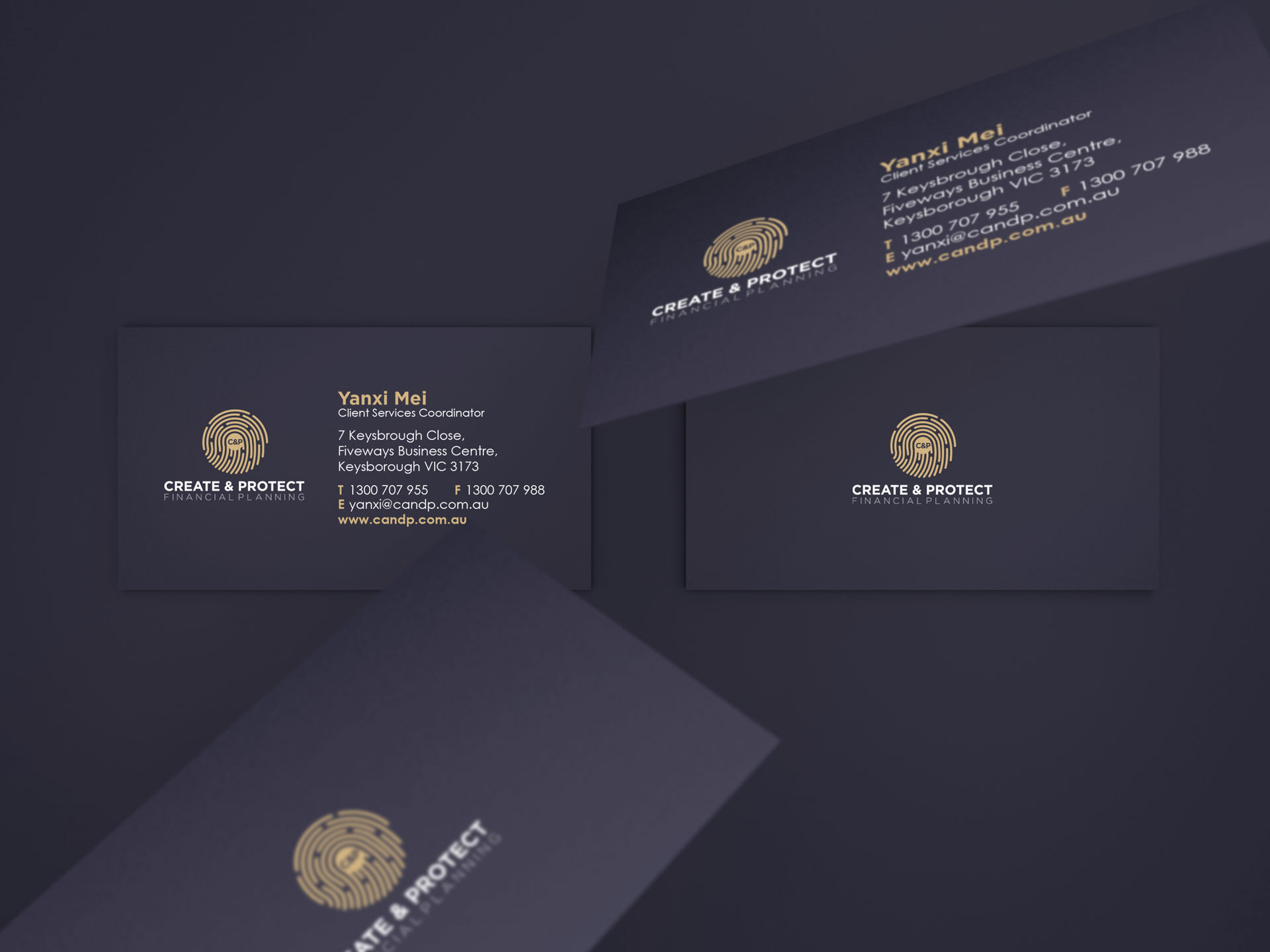 C&P Finnancial Planning by Z Creative Studio Branding & Graphic Design Melbourne