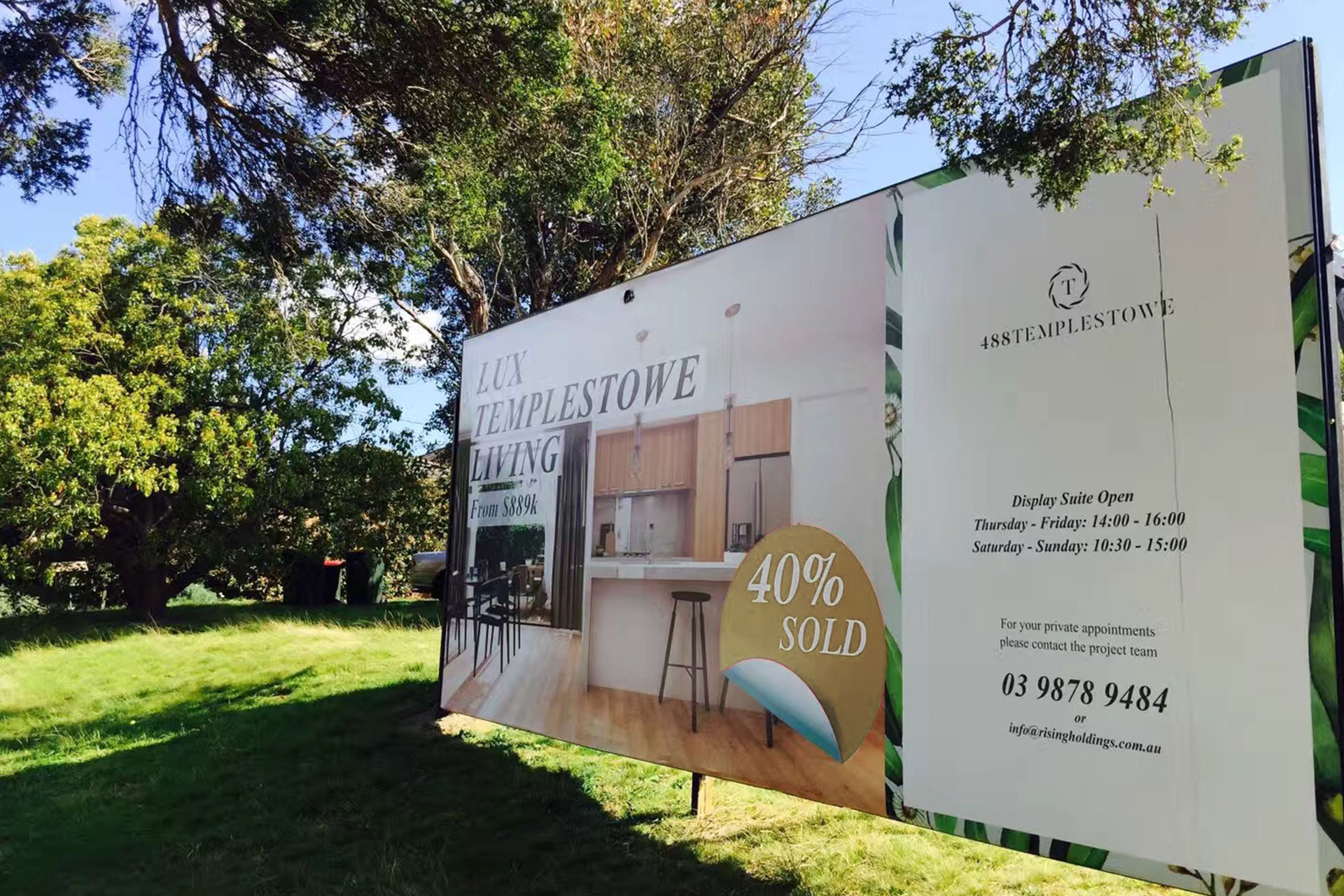 488 templestowe property branding by Z Creative Studio Branding & Graphic Design Melbourne