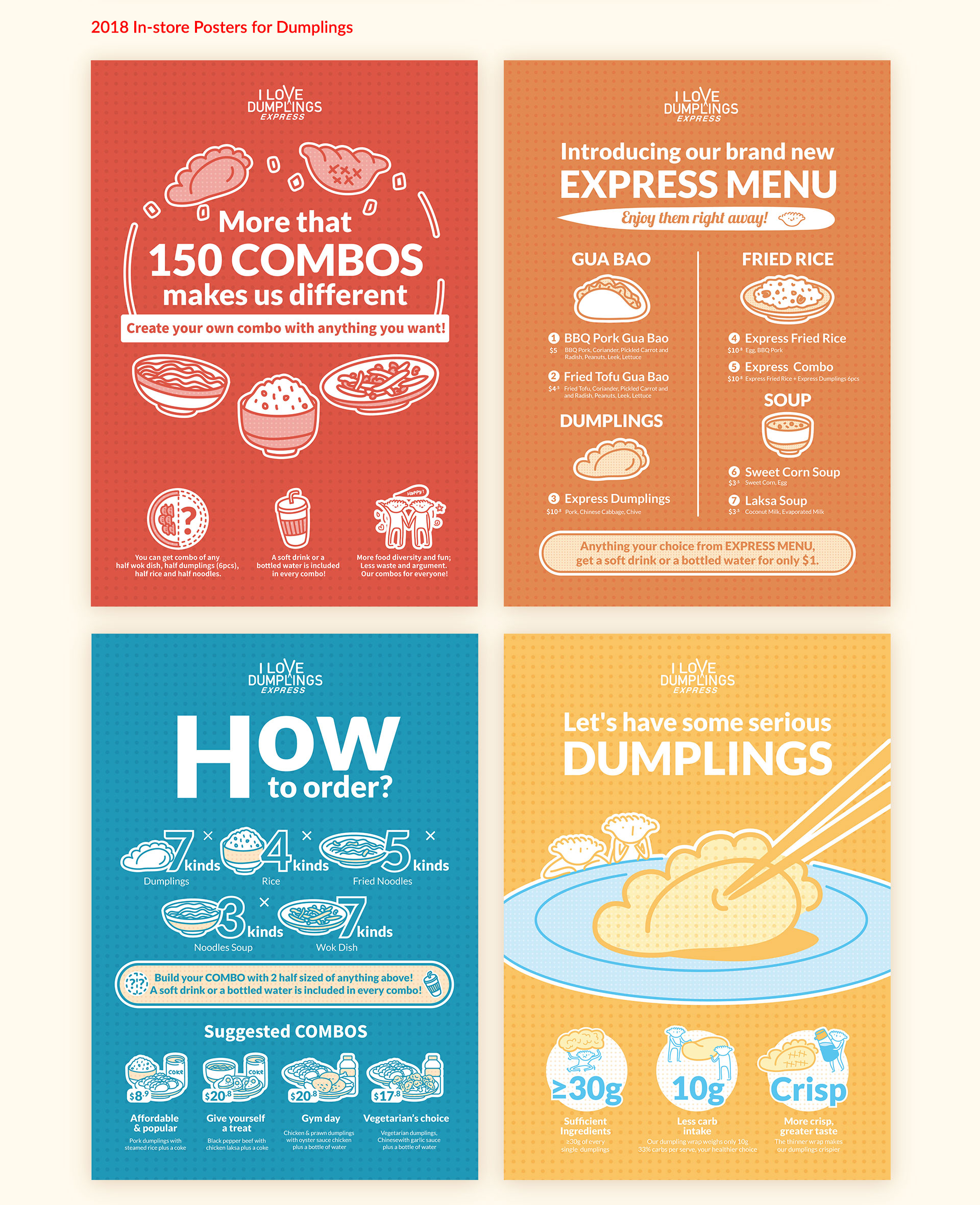 restaurant posters by Z Creative Studio Branding & Graphic Design Melbourne