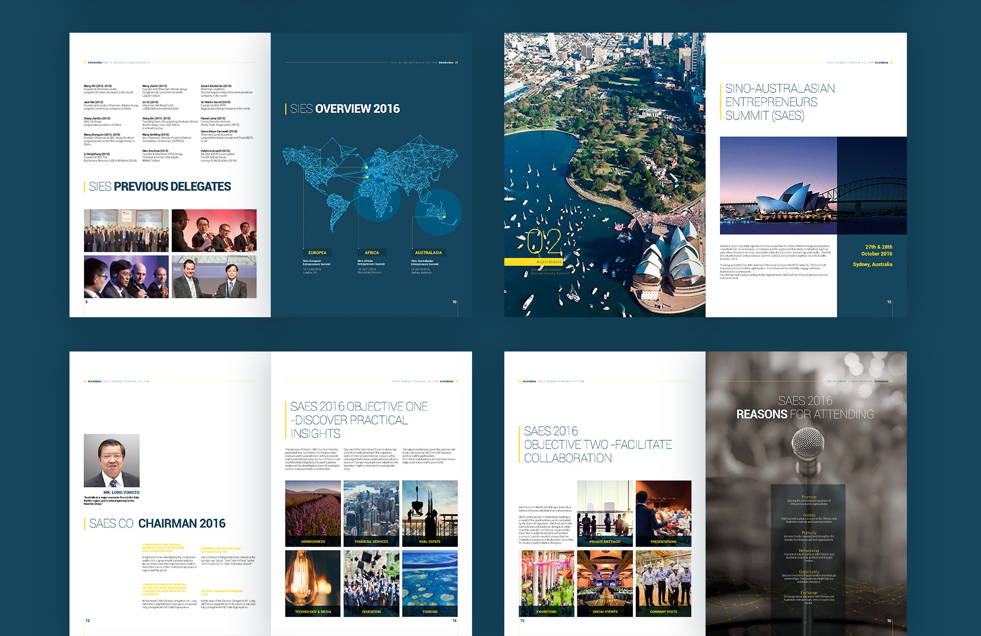 summit conference brand visual design by Z Creative Studio Branding & Graphic Design Melbourne
