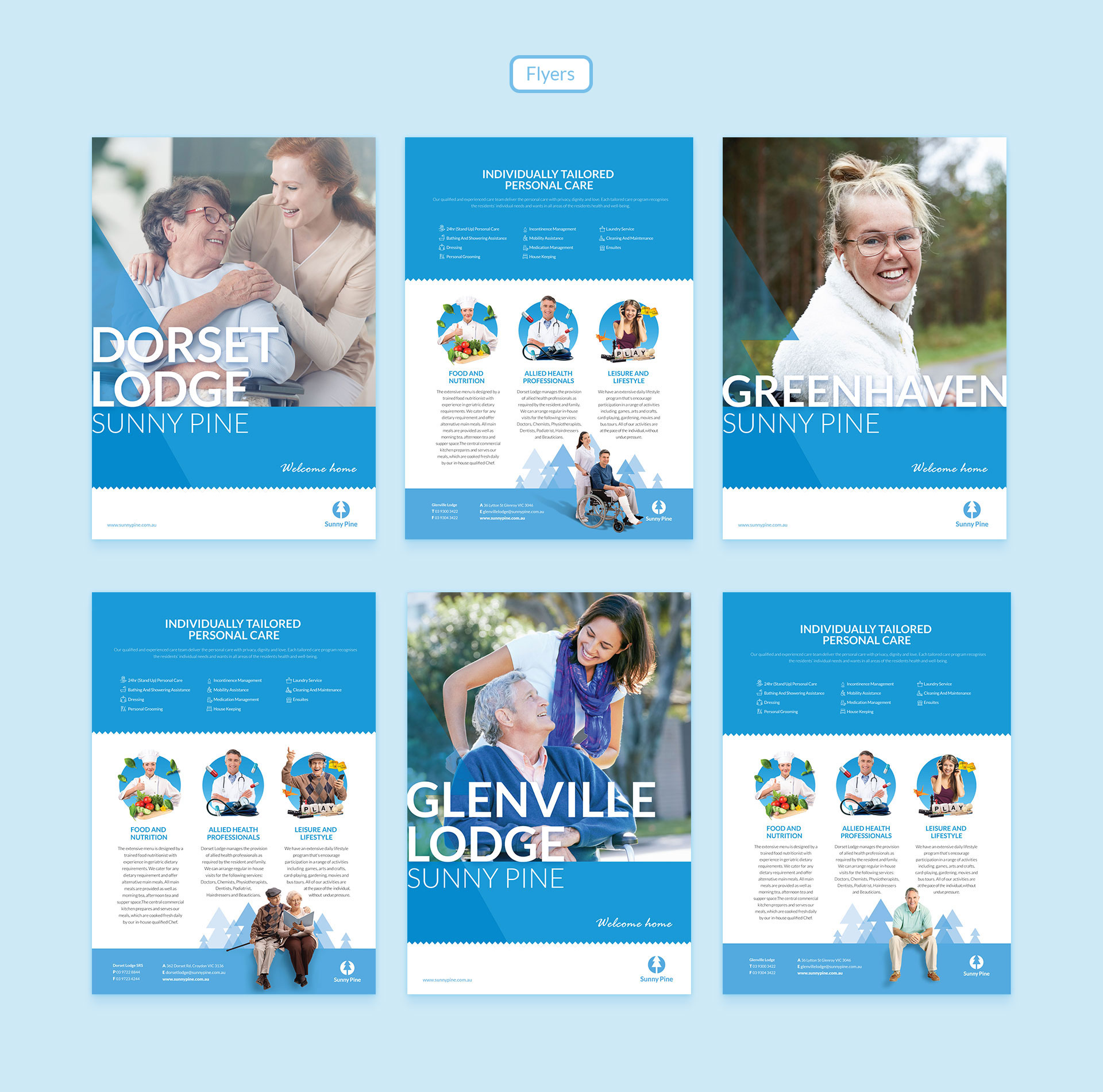 Assisted living and Age care Branding by Z Creative Studio Branding & Graphic Design Melbourne