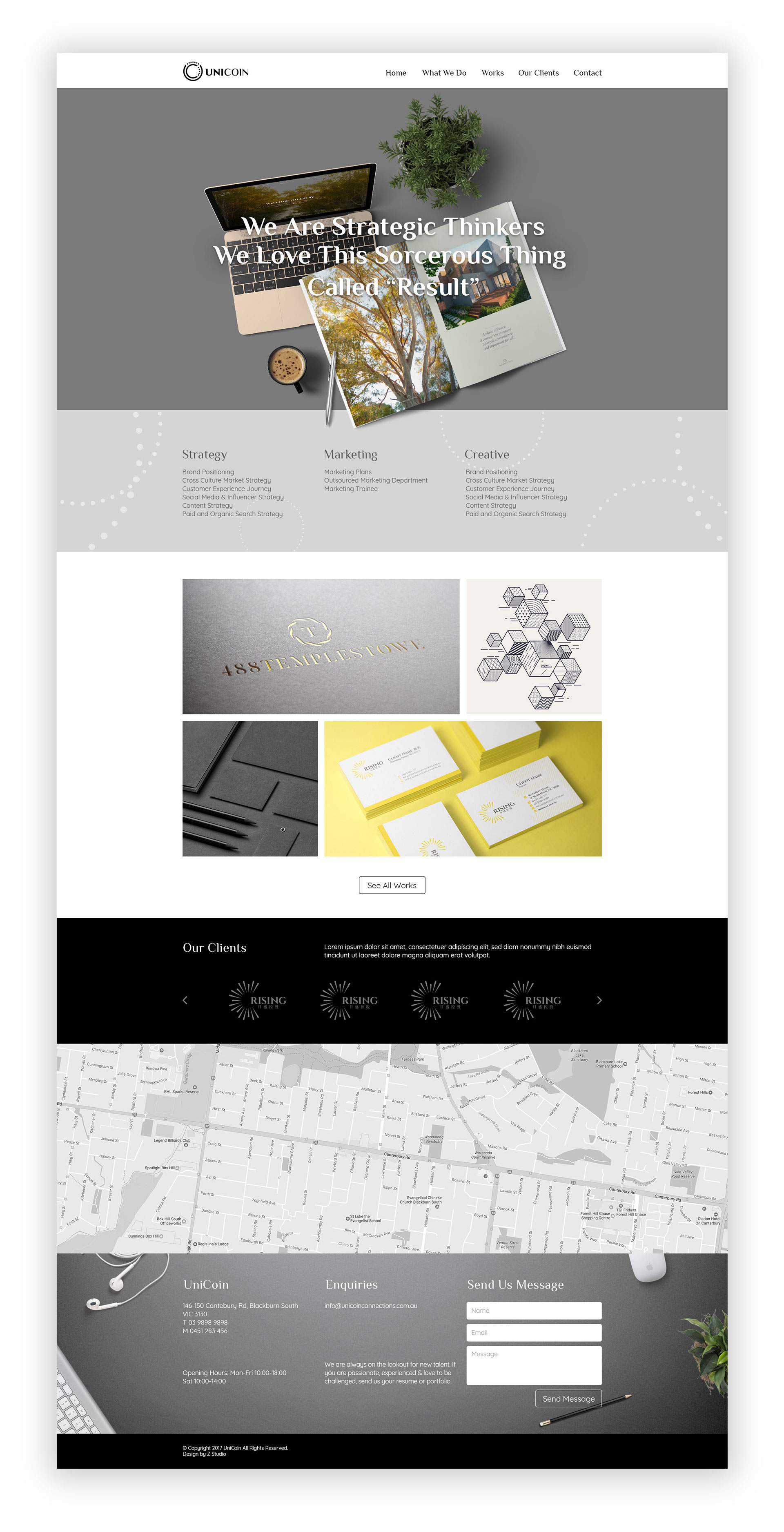 marketing agency branding by Z Creative Studio Branding & Graphic Design Melbourne